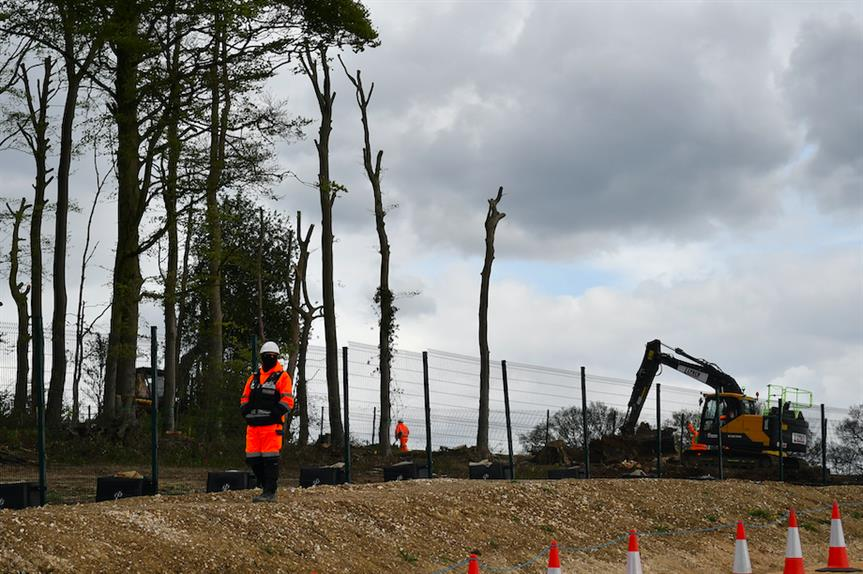 HS2 construction site in Great Missenden (Pic: Getty)