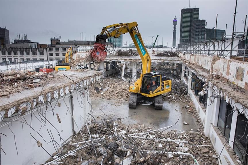 Demolition to works to enable the delivery of the HS2 project (pic HS2 Ltd)