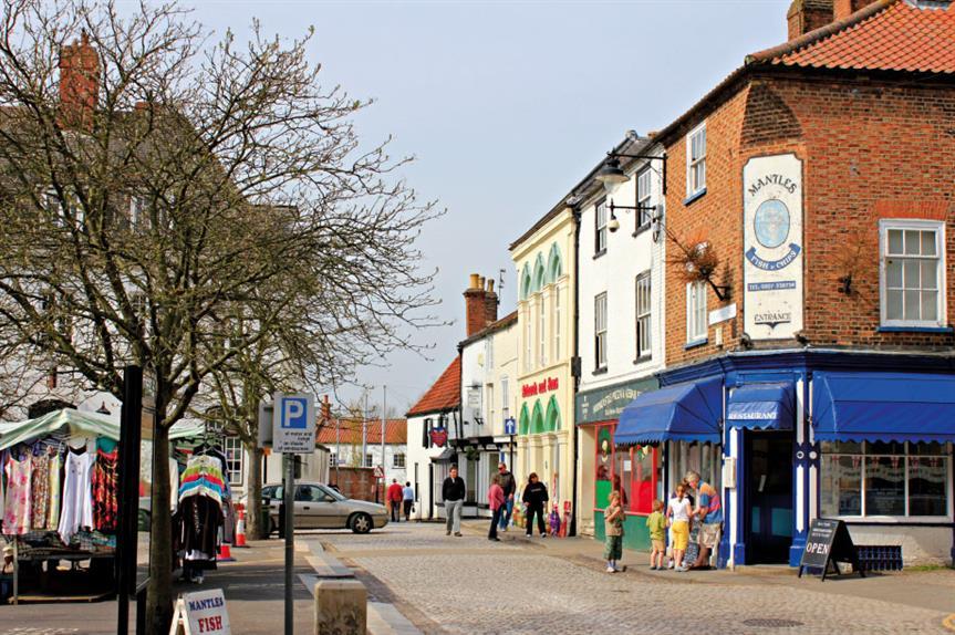 Horncastle: town council now has planning powers