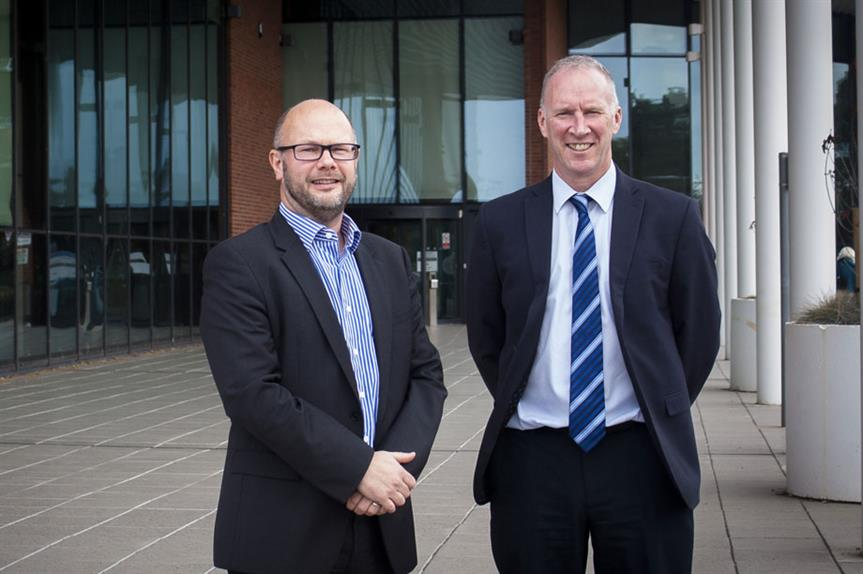 Delivering homes: Central Bedfordshire's director of regeneration and business Jason Longhurst and development infrastructure group manager Andrew Davie  (Pic: Central Bedfordshire Council)