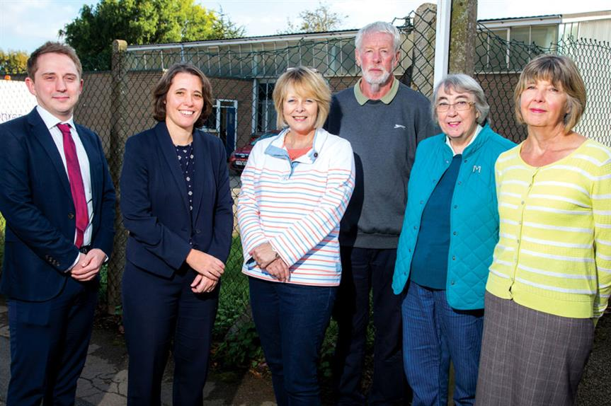From left: Needham; Julia Baish, development team leader of Kettering Borough Council; Bull; plus Roy Baxter, Mary Rust and Pat Scouse of Broughton neigbourhood plan's steering group