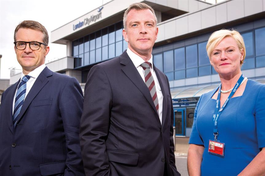 Airport expansion promoters: (left-to-right) Duncan Field, head of planning, Norton Rose Fulbright; Sean Bashforth, director, Quod; and Rachel Ness, director of infrastructure, strategy and planning, London City Airport