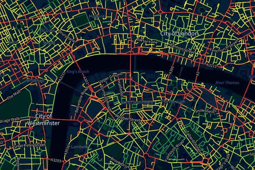 More and less healthy London streets - image: underscorestreets.com