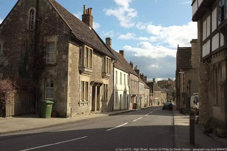 Norton St Philip, Somerset. Pic: Derek Harper, Geograph.org.uk