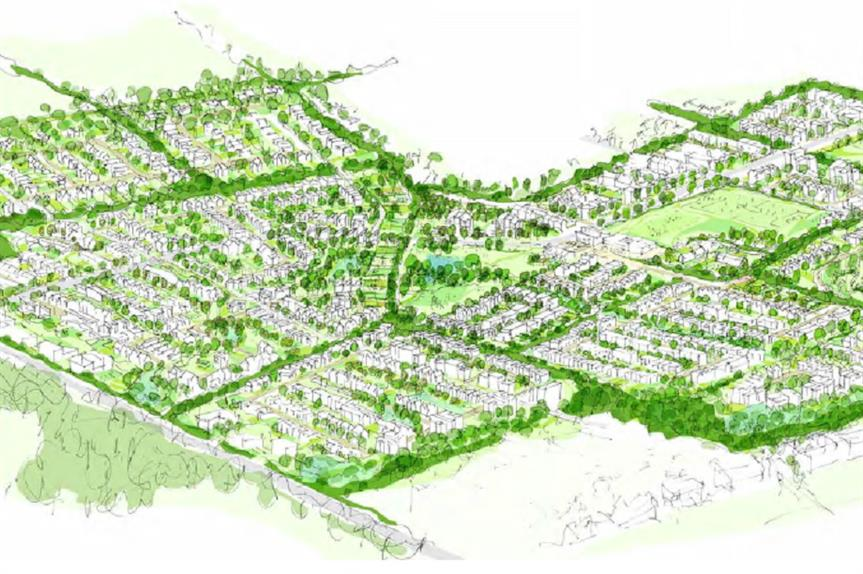 Visualisation of proposals for Himley Village in North West Bicester. Pic: P3Eco Group