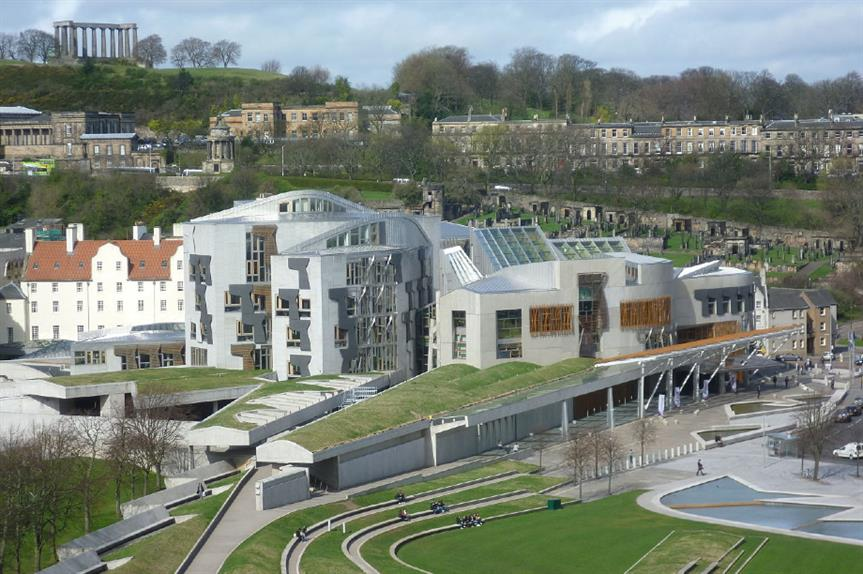 Scottish Parliament. Image: Kim Traynor / Wikimedia Commons