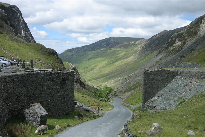 Honister Pass in the Lake District. Image credit: Allan Grey