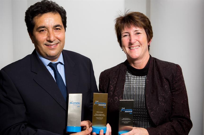Award winners: Hounslow head of private sector housing Amir Salarkia and head of development management Marilyn Smith