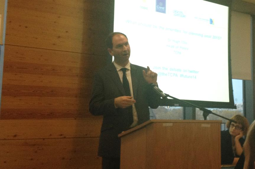TCPA head of policy Hugh Ellis speaking at Tuesday's conference