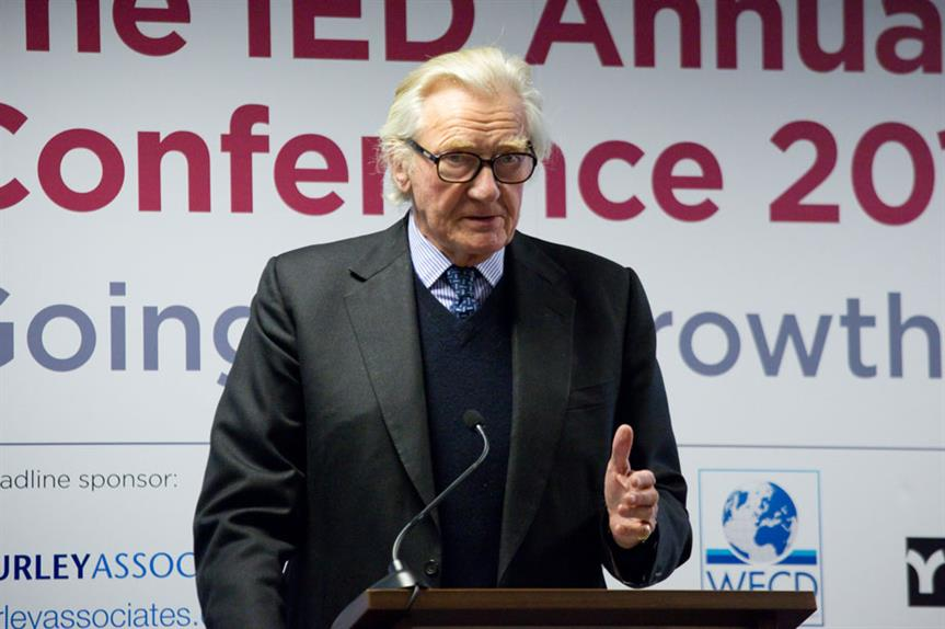 Heseltine: last year produced his No Stone Unturned report on economic growth for the government