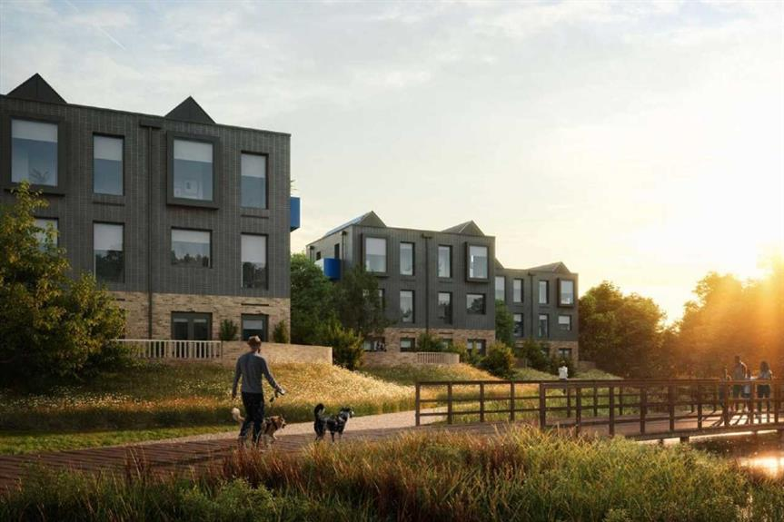 A visualisation of plans for homes at Northstowe, one of several major housing developments proposed in Greater Cambridge
