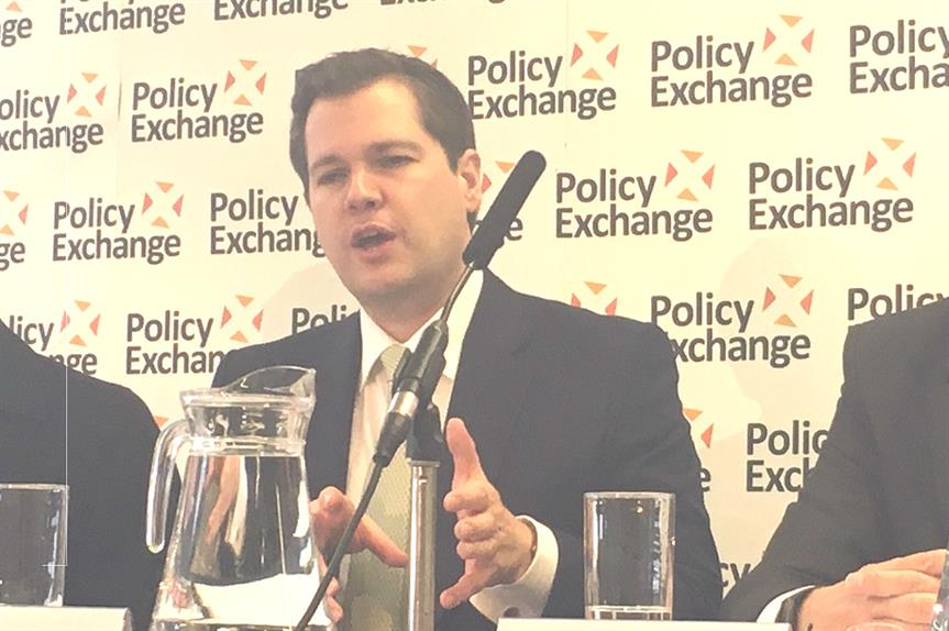 Housing secretary Robert Jenrick speaking at a previous Policy Exchange event at the Conservative Party Conference