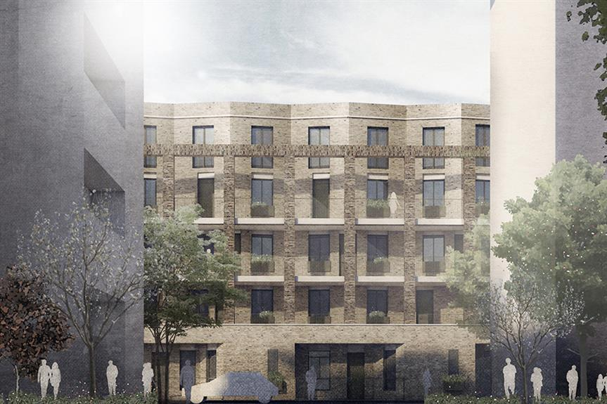 A visualisation of the Bancroft Estate in Tower Hamlets, east London