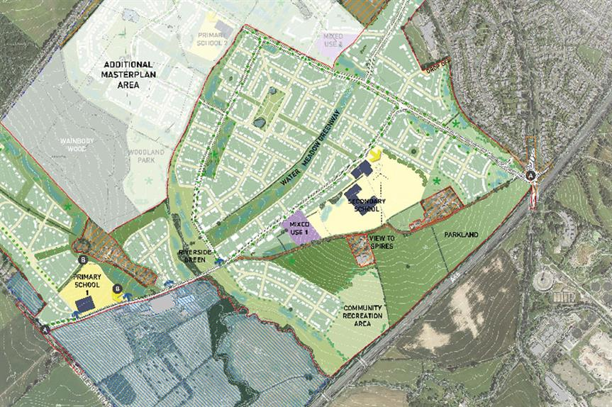 A masterplan image of the Kings Hill Park scheme in Coventry (pic credit: Lioncourt Strategic Land Limited)