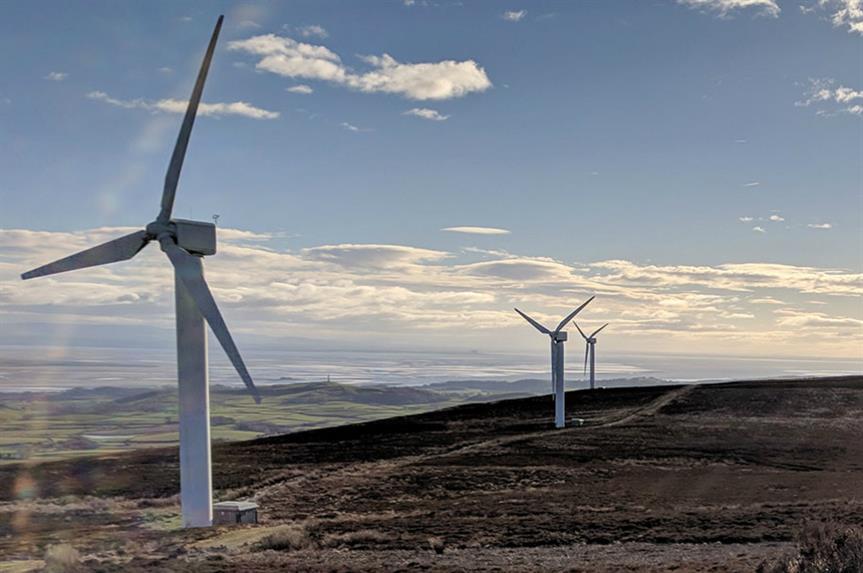 Kirkby Moor Wind Farm. Image: Ventient Energy