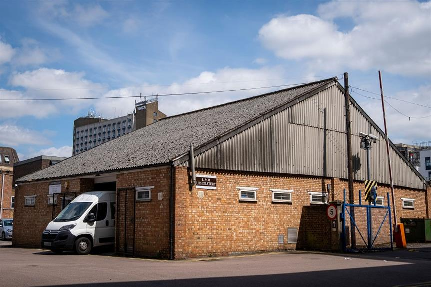 L&M Upholstery in Watford - a light industrial building that has been given permission to convert to housing under PD rights, despite some of the flats lacking windows. Pic: Julian Dodd