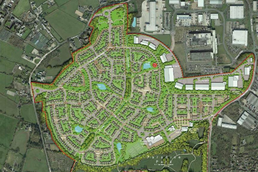 Plans for the former Moss Side test track in Leyland. Image: Property Capital and Barratt Homes