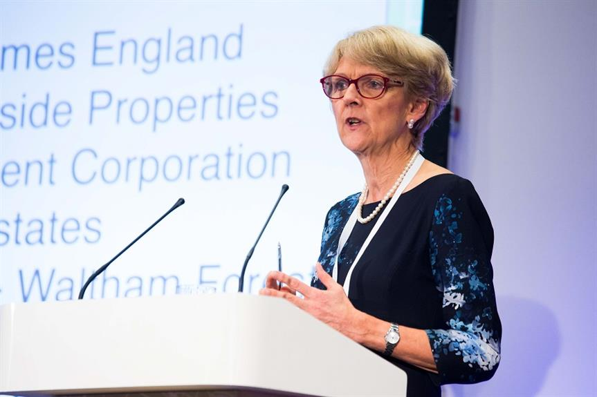 Liz Peace speaking at the Planning for Housing conference earlier today
