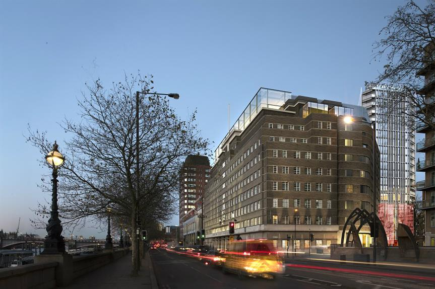 A visualisation of the redeveloped London Fire Brigade headquarters on London's South Bank. Pic: Pilbrow & Partners