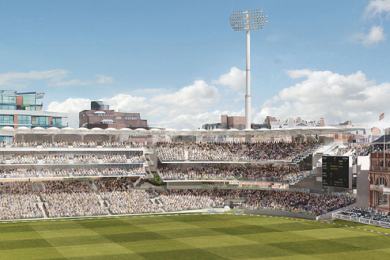 An artist's impression of the new stand proposed for Lord's cricket ground