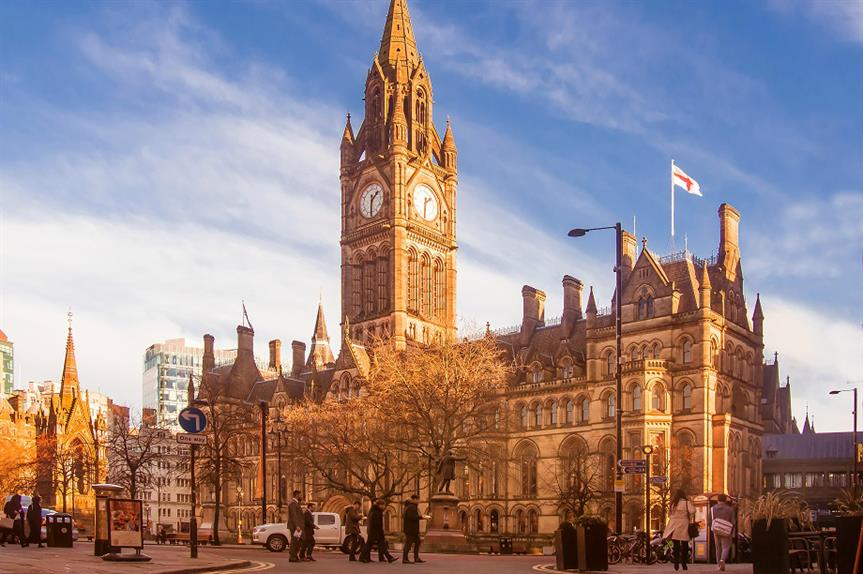 Manchester Town Hall: city council to consult on restrictions on co-living schemes. Pic: Getty Images