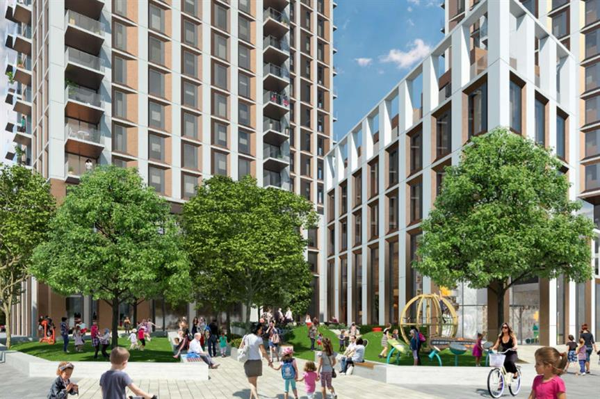 An artist's impression of plans for Millharbour.