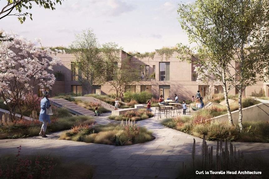A CGI of plans for the Morland Garden development. Image: Curl la Tourelle Head Architecture
