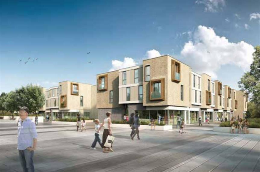 An artist's impression of plans for the latest phase at Newcastle Great Park.
