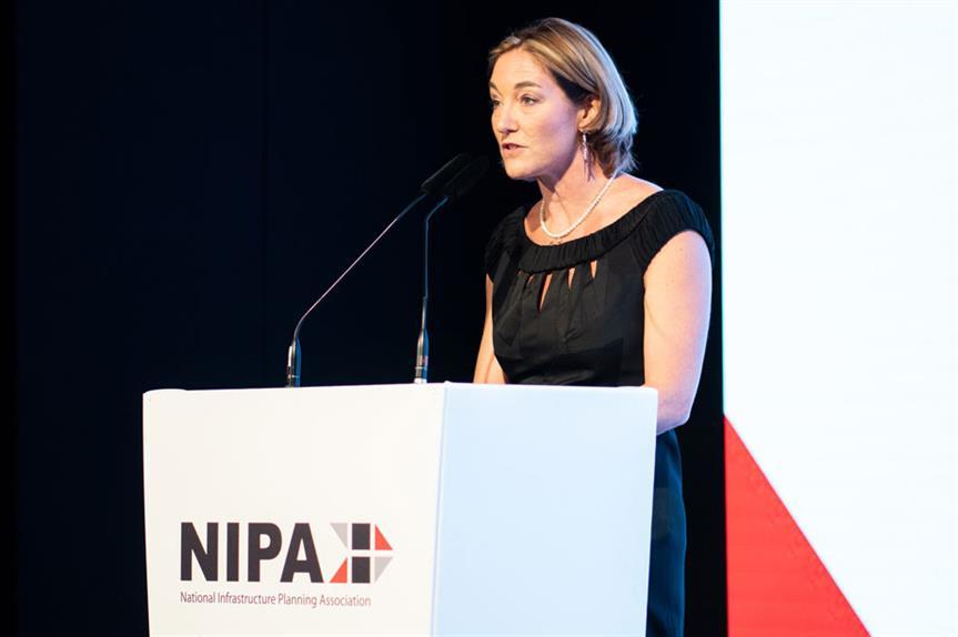 Professor Sadie Morgan speaking at the event last week
