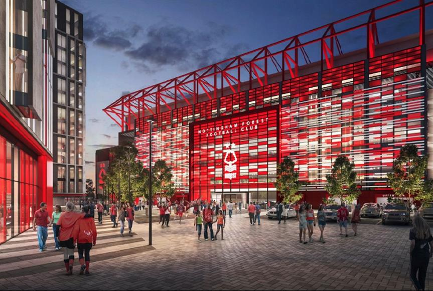 A visualisation of the proposed scheme. Image by Nottingham Forest FC