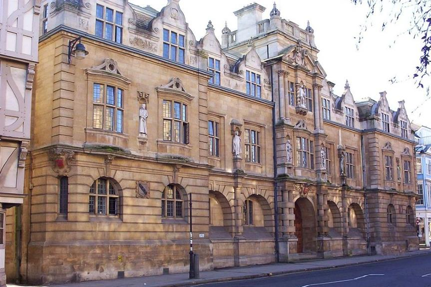 The Rhodes Building of Oriel College, Oxford, which features a statue of controversial historical figure Sir Cecil Rhodes - image: Alf / Wikimedia (CC BY-SA 3.0)