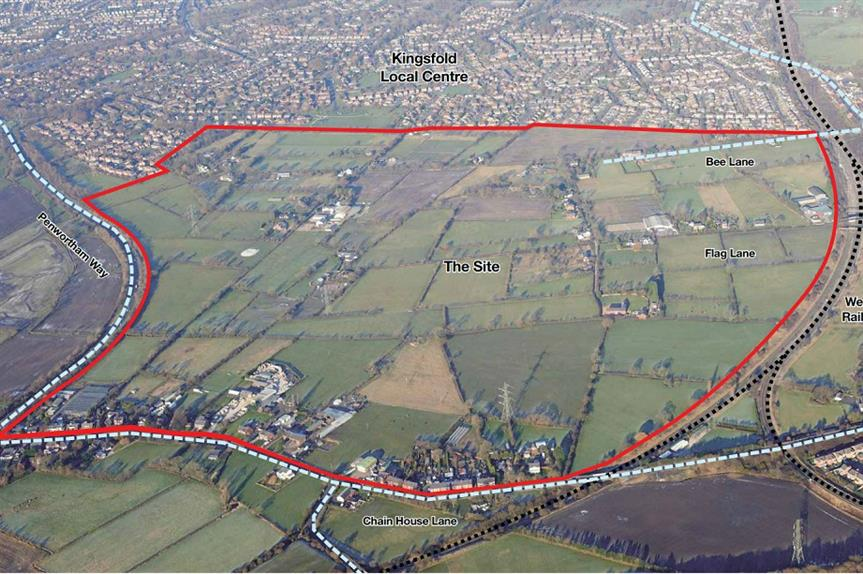 The site of the proposed Penwortham development. Pic: Homes England/Taylor Wimpey