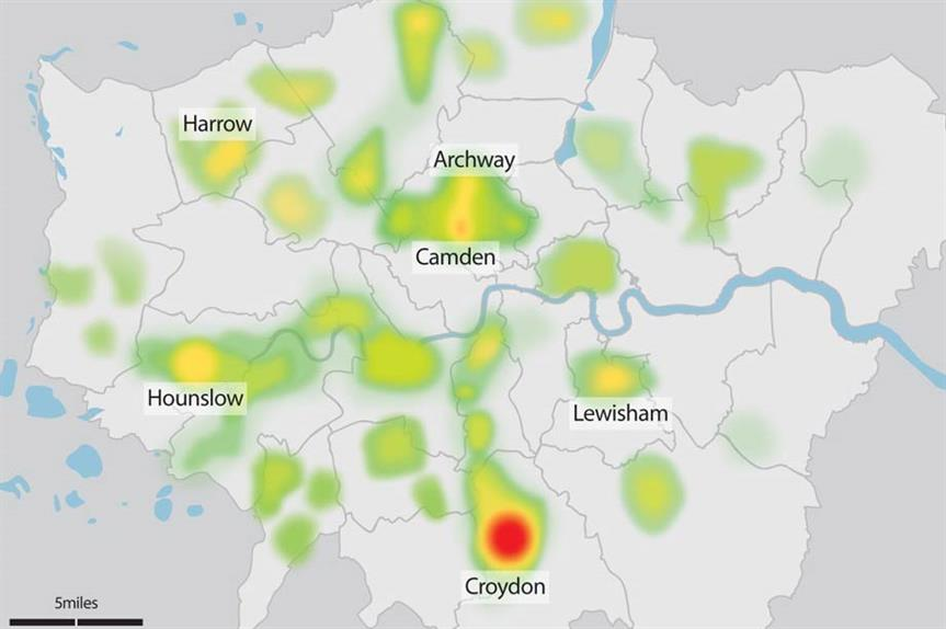 Hotspots: Croydon status as an office-to-residential hotspot is confirmed by Planning's analysis