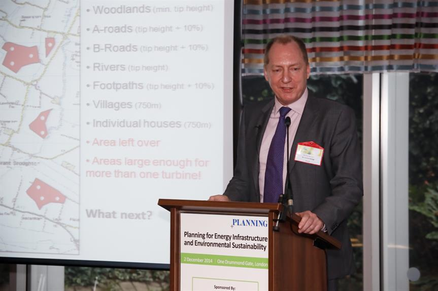 Richard Mardon, chief executive officer of Airvolution Energy speaking at Planning's energy and environment conference