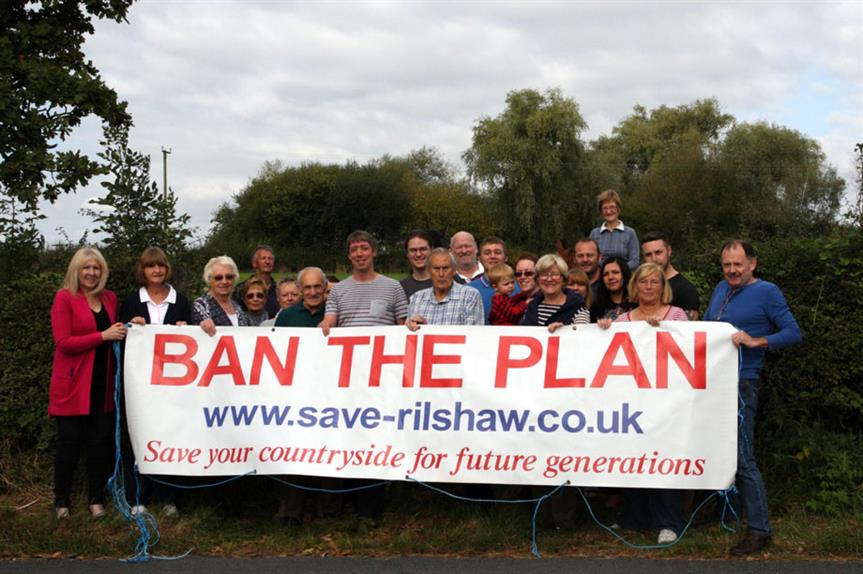 """Winsford: action group urges """"no"""" vote in referendum on plan that would see 3,362 homes built on 24 sites in town to 2030"""