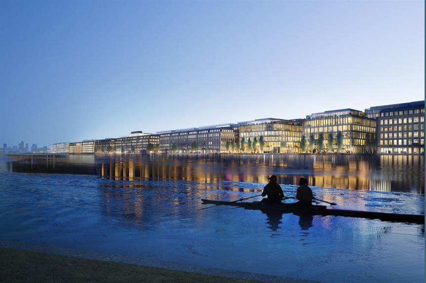 A visualisation of the Royal Albert Dock scheme