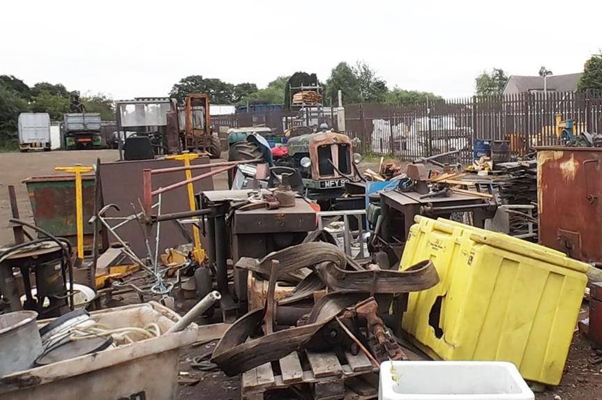 The illegally-built scrap yard (pic: South Staffordshire Council)