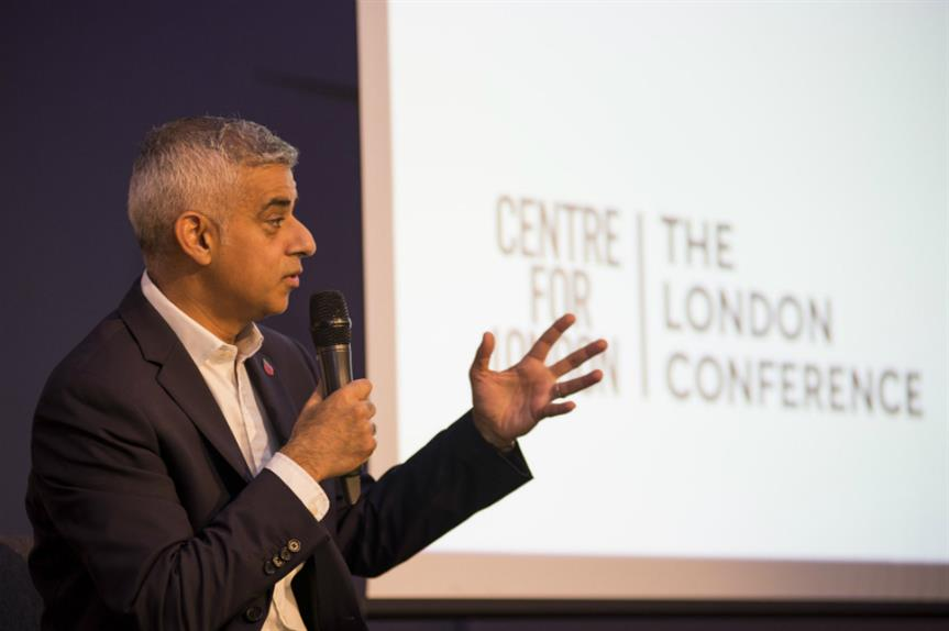 Sadiq Khan at the Centre for London conference 2018. Image: Centre for London