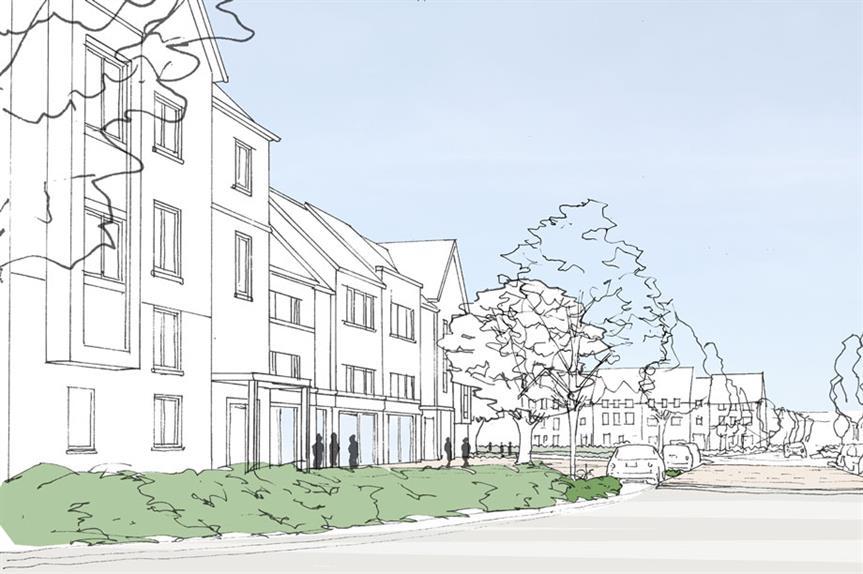 A visualisation of part of the finished Scraptoft North scheme (pic: Parker Strategic Land)