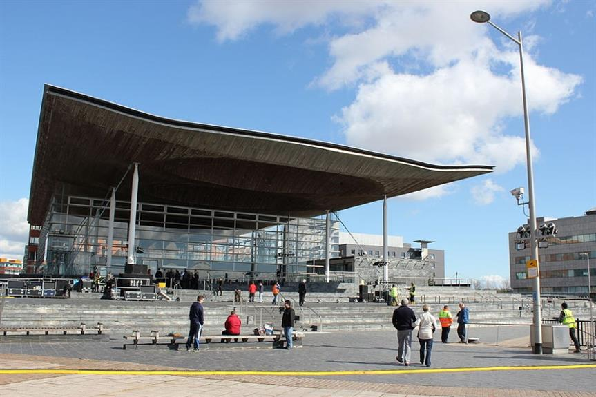 The Senedd, or Welsh Parliament, in Cardiff - image: Julian Nyča (CC BY-SA 3.0)