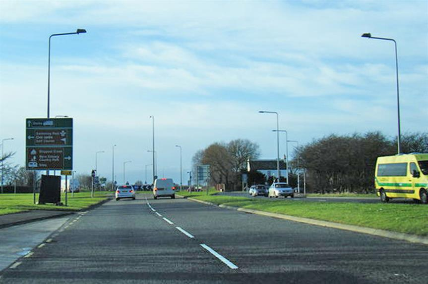 The existing A585 roundabout at Skippool (pic: Colin Pyle via Geograph)