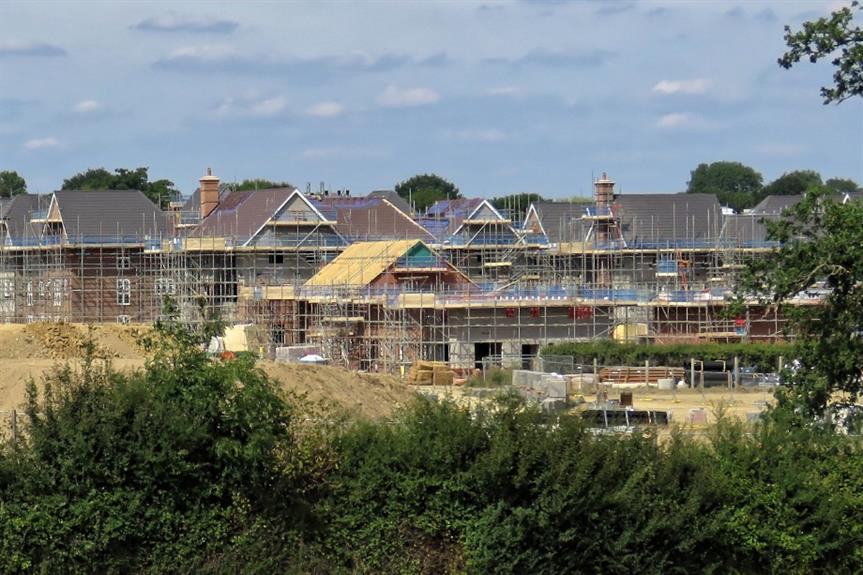 Housebuilding in rural Sussex - image: © Acabashi (CC-BY-SA 4.0)