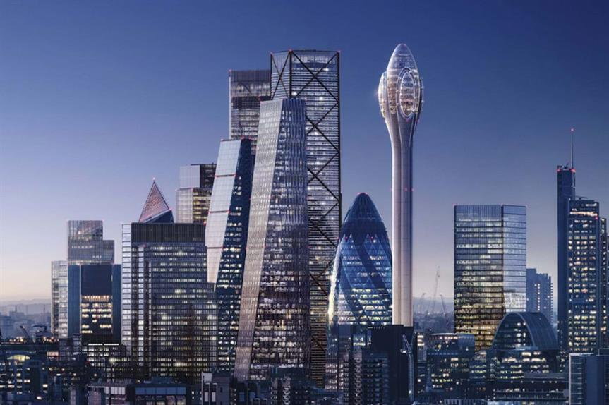 A visualisation of the finished Tulip development (pic: Foster + Partners)