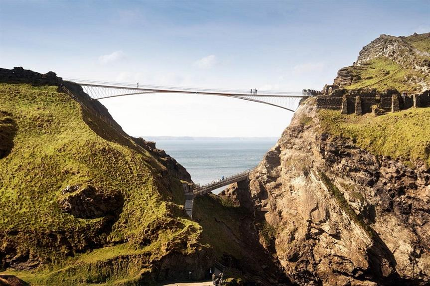 A visualisation of the Tintagel Footbridge. Credit: ® MRC, Ney & Partners & Emily Whitfield-Wicks.jpg