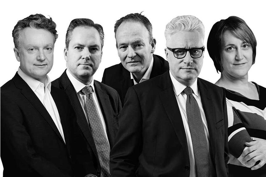 (l-r) Simon Ricketts, Ian Ginbey, Stephen Ashworth, Stuart Andrews, Clare Fielding