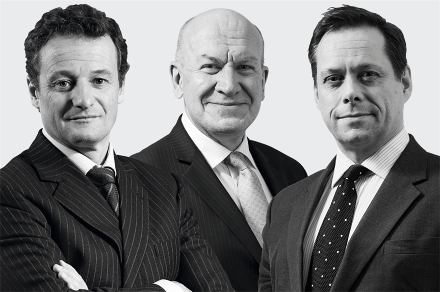 The highest-rated silks 2021 (from left): Christopher Young QC, Christopher Katkowski QC and Rupert Warren QC