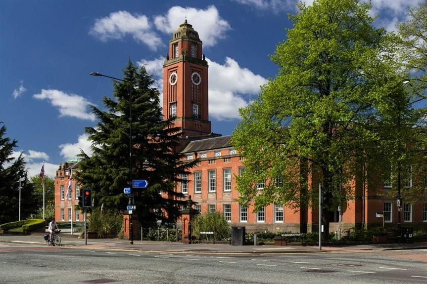 Trafford Town Hall - image: Peter McDermott / geograph (CC BY-SA 2.0)