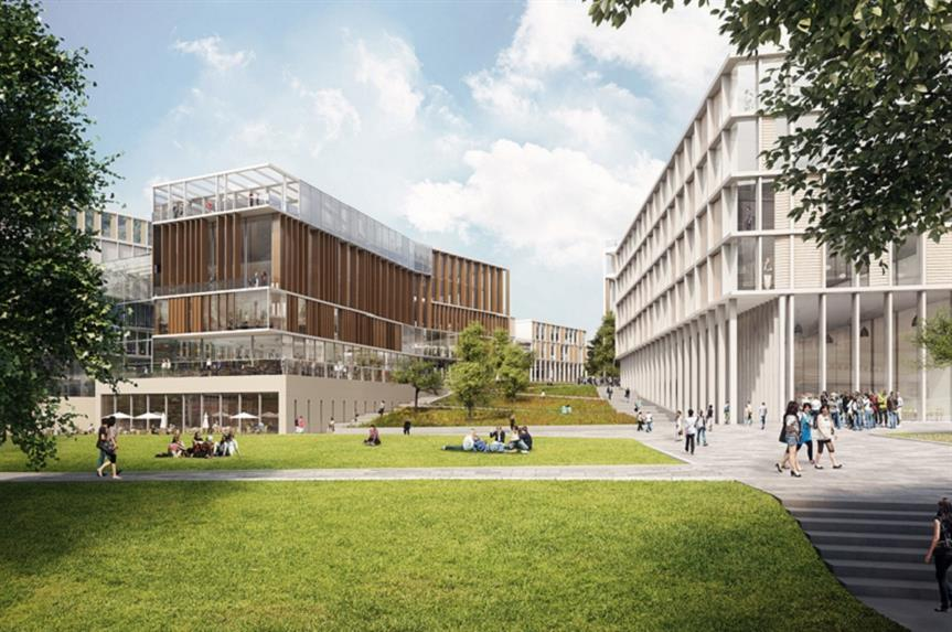 A visualisation of Glasgow University's redeveloped Gilmorehill Campus. Pic: AECOM/7N Architects