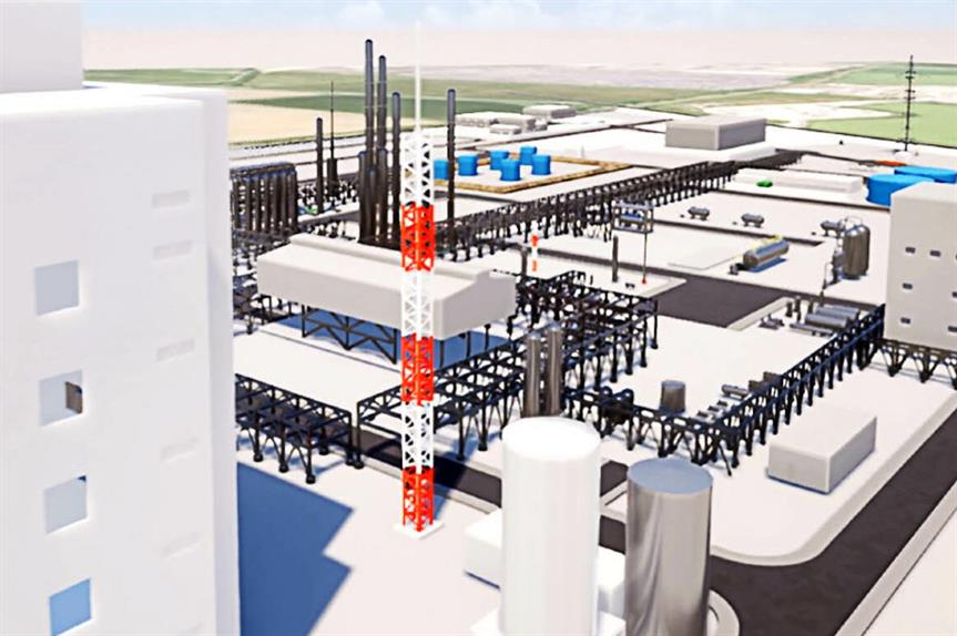 A visualistion of the waste-to-jet-fuel plant. Image: Velocys