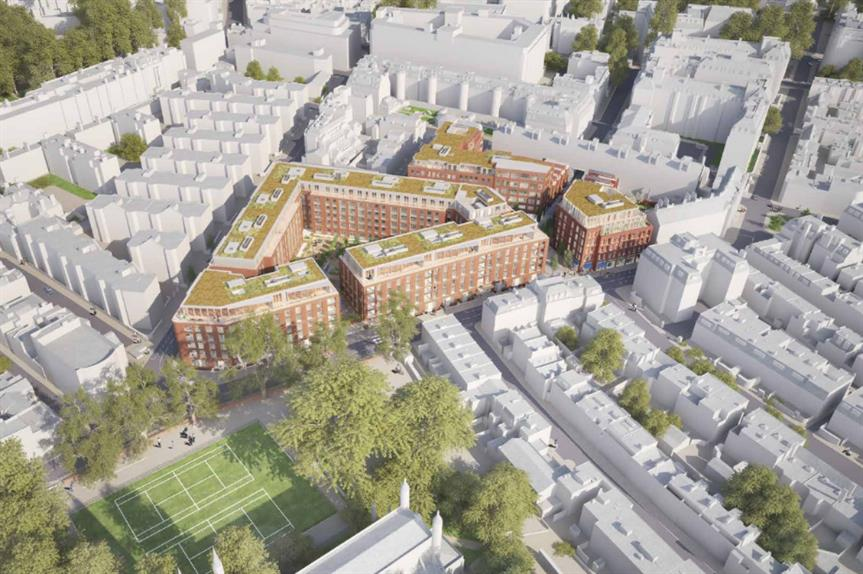 An artist's impression of plans to redevelop the William Sutton Estate.